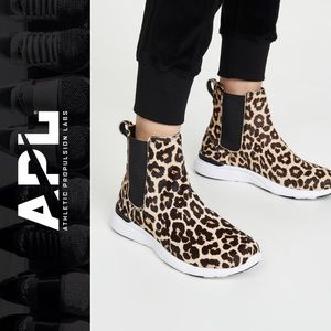 APL ICONIC LEOPARD CHELSEA SNEAKERS BOOTS